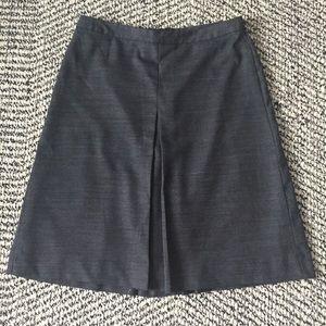 Wool A-line kick pleat skirt Gap 4